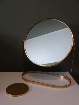 Gold Table Mirror Image