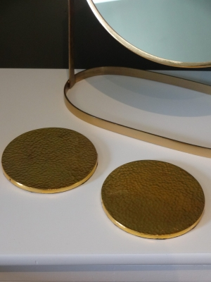 2 Gold Coasters (Made in the UK) Image
