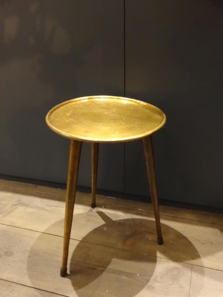 Raw Bronze Tri-pod Table Image