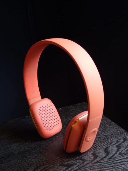 Soft Coral Bluetooth Headphones Image