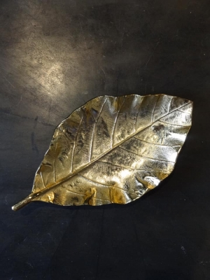 Raw Gold leaf Dish Image