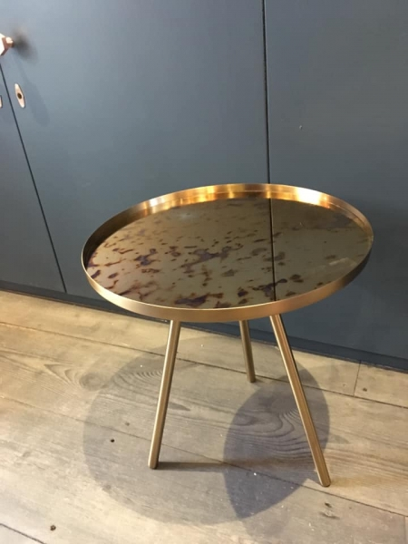 Gold & Azure Aged Mirror Table Image