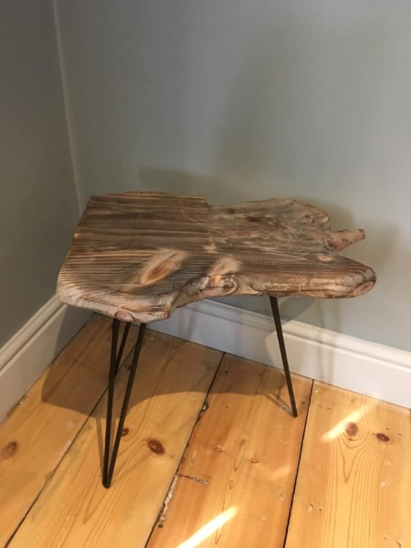 Wood Slice Side Table Image