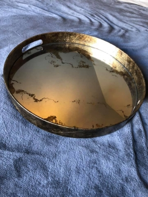 Distressed Mirror Tray Image