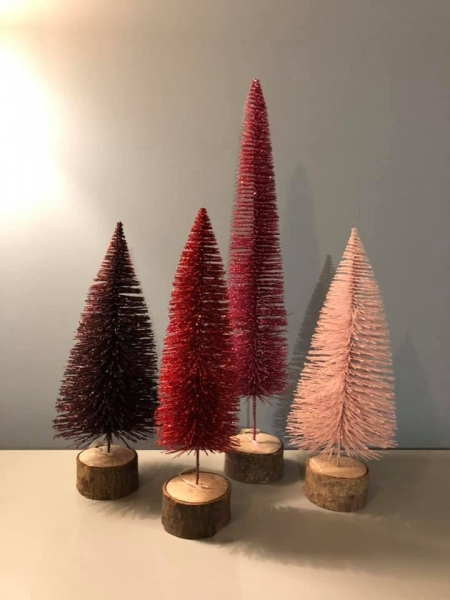 Set of 4 Glitter Trees Image