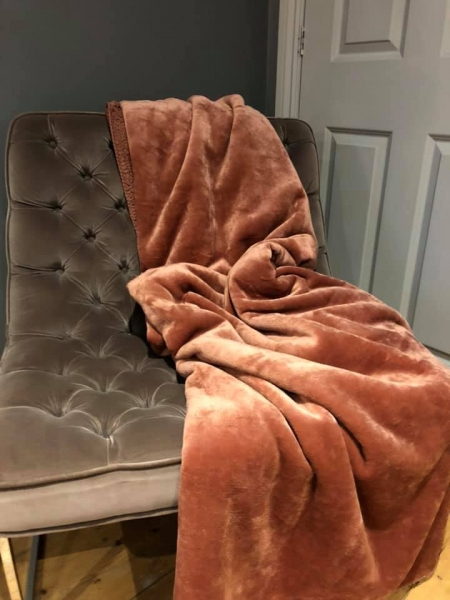 Lux Blush Throw Image