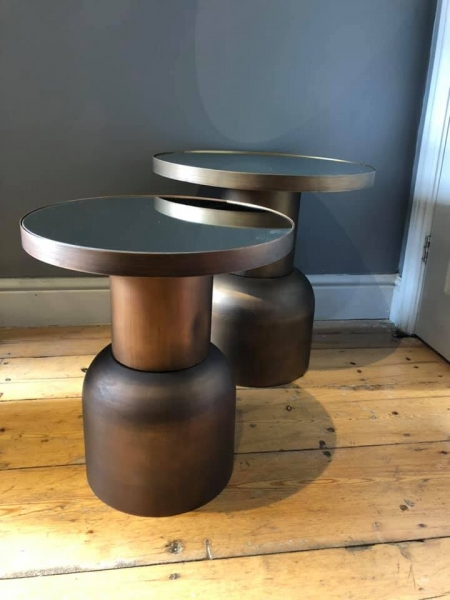 Small Burnt Copper Table Image