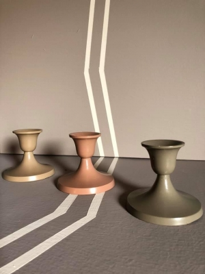 Set of 3 Dinner Candles Stands Image