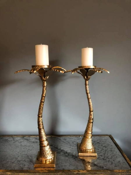 Big Palm Tree Candle stand Image